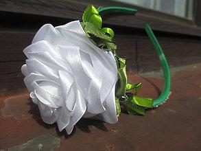 Ozdoby do vlasov - biela ruža - 10908784_