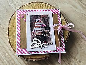 Papiernictvo - Svadobná pohľadnica na peniaze - 10910630_