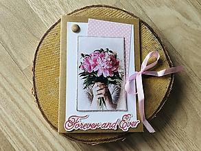 Papiernictvo - Svadobná pohľadnica na peniaze - 10910692_