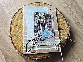 Papiernictvo - Svadobná pohľadnica na peniaze - 10910711_