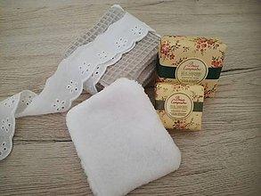 Úžitkový textil - Odličovacie vankúšiky - pampúšiky farba NATUR - 10910001_
