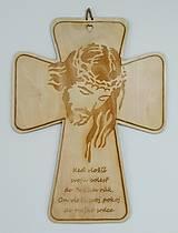 Darčeky pre svadobčanov - Kríž veľký s myšlienkou - 10910635_