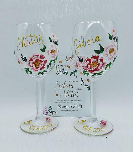 Svadobné poháre V.- pár