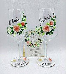 Drobnosti - Svadobné poháre maľované VI. - 10911045_