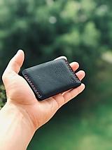 Peňaženky - Kožená peňaženka - Kožený držiak na karty - 10909404_