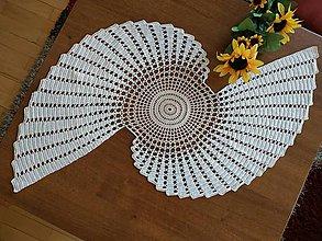 Úžitkový textil - Háčkovaná dečka - obrus - 10909440_