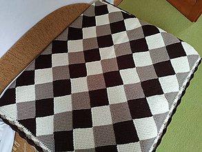 Úžitkový textil - Teplá háčkovaná deka - 10909458_