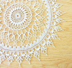 Úžitkový textil - Okrúhla biela dečka - 10910206_