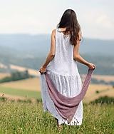 Šaty - Maxi mušelínové bílé - 10911129_