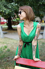 Šaty - Sexi letné šaty z chladivej viskózy - 10912665_