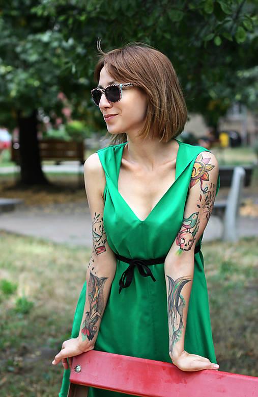 Šaty - Sexi letné šaty z chladivej viskózy - na objednávku - 10912710_