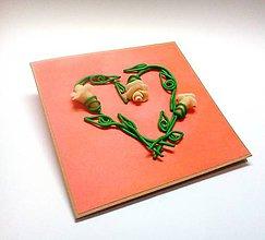 Papiernictvo - Ruže svadobné I ... - 10912992_