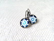 Náušnice - Winter snowflake earrings - 10911996_