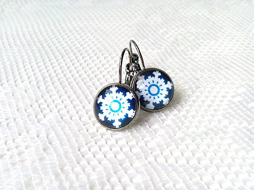 Winter snowflake earrings