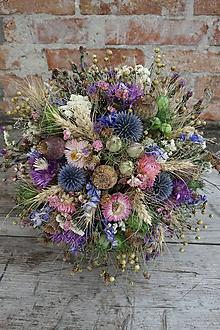 Dekorácie - Kytica zo sušených kvetov - 10913609_