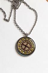 Náhrdelníky - Steampunk náhrdelník z chirurgické oceli - 10911358_