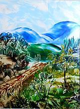 Obrazy - Cestička do hôr - 10912501_