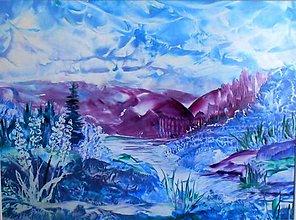 Obrazy - V tôni purpurových hôr - 10912480_