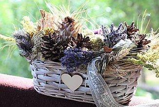 Dekorácie - Aranžmán zo sušených kvetov - 10912962_