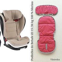 Textil - VLNIENKA Podložka do autosedačky BeSafe iZi 15/36 kg 100% Merino proti poteniu a prechladnutiu - 10913220_