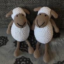 Hračky - Háčkovaná ovečka biela - 10913772_