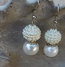 Náušnice - perleťové krásky - 10911709_