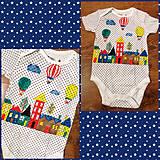 Tričká - Maľované detské body Farebné mesto - 10911233_