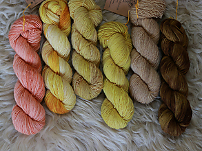 Galantéria - SUNKISSED - prírodne farbená merino vlna - 10912748_