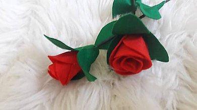 Drobnosti - Ruže z filcu - 10912306_