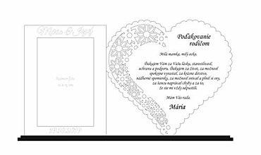 Dekorácie - Poďakovanie rodičom 9 s foto rámčekom + mená a dátum - 10911935_