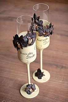 Nádoby - Luxusná svadba II. - svadobné poháre sada 2 ks - 10911832_
