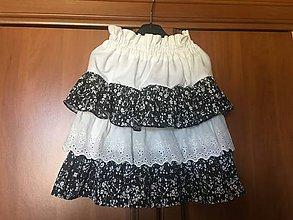 Detské oblečenie - Detská sukňa s madeirou - 10912776_