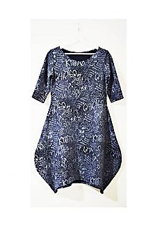 Šaty - Popísané šaty + darček - 10913786_