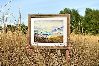 Obrazy - Akvarelová krajina - 10912152_