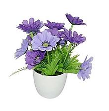 Papier - Nálepka Fialové kvety - 10913385_