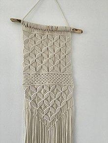 Dekorácie - Makramé závesná dekorácia prírodná - 10911736_