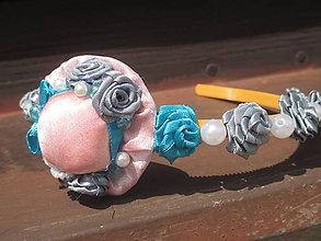 Ozdoby do vlasov - ružový klobúčik - 10912167_