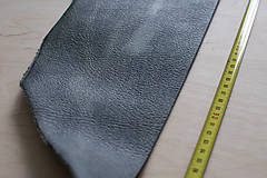 Suroviny - Zbytková koža sivá melírovaná - 10913883_