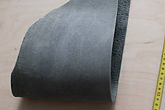 Suroviny - Zbytková koža sivá melírovaná - 10913884_