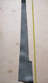 Suroviny - Zbytková koža sivá melírovaná - 10913890_