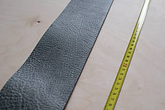 Suroviny - Zbytková koža sivá melírovaná - 10913892_