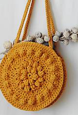Kabelky - Háčkovaná kabelka z trikotážnej priadze Mandalka - 10913852_