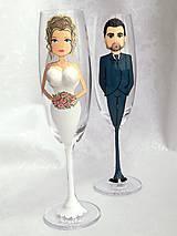 Kresby - svadobné poháre 3D - 10914303_