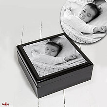 Krabičky - Drevená šperkovnica / krabička s Vašou fotografiou - 10913662_