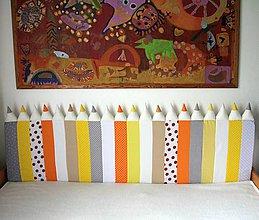 Úžitkový textil - Zástena Ceruzky 5cm hrubá - 10913841_