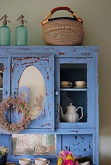 Nábytok - Modrý kredenc - 10911316_