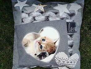 Úžitkový textil - Susugo Obliečka na vankúš s mačkou. - 10911806_