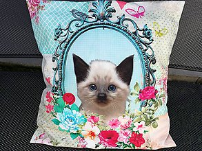 Úžitkový textil - Susugo Obliečka na vankúš s mačkou. - 10911919_