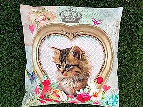 Úžitkový textil - Susugo Obliečka na vankúš s mačkou. - 10911972_