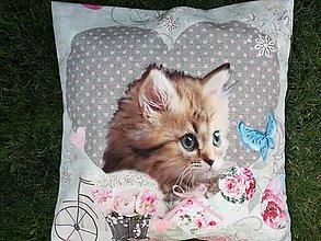 Úžitkový textil - Susugo Obliečka na vankúš s mačkou. - 10912038_